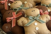 Gingerbread! / Fabric, handmade gingerbread goods. Handmade crafts & creations by paninohome.