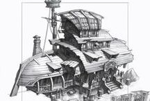 Architecture Sketch Art / by cgm