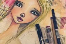 Art Journal Girls / Beautiful and creative girls in journals.