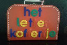 Letterkoffertje /  In dit koffertje zitten nog veel meer ideeën ,want met letters kunnen  we veel meer doen dan alleen ...........schrijven! / by Koffertjesfabriek