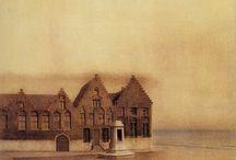 Fernand Khnopff / 19세기, 벨기에, 페르낭 크노프