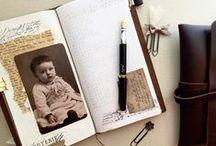 Notebooks / Traveler's notebooks, midori, handmade books, DIY inserts, journals, book binding, and more