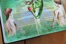 Faith Journaling / Scripture journaling, bible journal, faith, creative art journal, inspirational notes