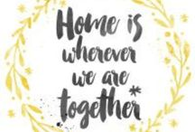 FREE PRINTABLE / Such a beautiful quote and so true. 'Home is wherever we are together' - free printable over on my blog!