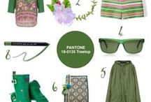 Colour Your World | #13 Pantone® Treetop / This board shows fashion and accessories in shades of green. Vibrant emerald or Kelly green — perfect picks for my Pantone Treetop post!