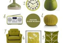 Colour Your World | #14 Pantone® Woodbine / Interiors picks in the lovely shade otherwise known by Pantone as Woodbine. I'd probably describe it as 'olive' or 'dark chartreuse' but there's no mistaking this lovely yellowy green hue. These interior styles are gorgeous. Eclectic and full of style and colour.