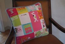 Memory cushion / Use baby clothes to make a cushion