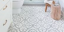 Decorative Floors / Painted floors, decorative floor tiles and lovely patterned floors from across the globe. I love seeing patterned floor tiles or retro patterned tiles in a hallway or bathroom. These days you can buy beautiful patterned vinyl sheet flooring, as well as patterned floor tiles.