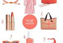 Colour Your World   #18 Pantone® Peach Echo / Picks in the coral shade Pantone Peach Echo.