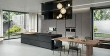 BUCĂTĂRIE AK_04 / Mobilier de bucătărie cu front din cadru de aluminiu și panou ultrasubțire, 4 sau 6mm, din PaperStone®, Fenix Ntm®, Corian®, furnir, sticlă sau ceramică