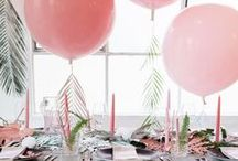 Pink Breakfast Decorations / Stuck for decorating ideas? Then this is the board for you! Lots of different ideas on how to make your party a pink wonderland for your guests. From table settings to balloons, you will find inspiration. Lets get decorating!