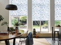Botanical Print Blinds / A gorgeous selection of botanical print roller blinds and roman blinds for bedrooms, living rooms and kitchens.