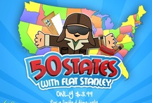 50 States & Capitals by Flatter World / Learn all 50 states with Flat Stanley
