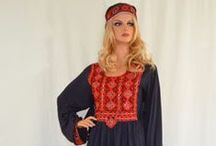 Kuchi Style Tribal Afghan Dresses / This type of dress is commonly worn by women in Afghanistan and some parts of Pakistan. Loose fitting and very comfortable to wear.  http://www.zarinas.com/dresses2.shtml