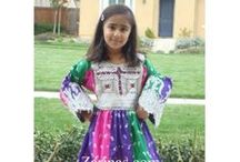 Afghan Clothes For Girls / Clothing, Accessories and Toys for Kids Dresses, headwear, coats, vests, and even toys from Afghanistan. http://www.zarinas.com/kids_section.shtml