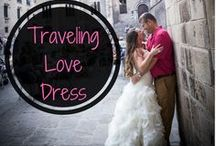 Anniversary Tradition | Traveling Love Dress / I wear my wedding dress every year as we travel to a different destination! I call it the Traveling Love Dress! #Anniversarytradition #weddingdressideas #wearweddingdresseveryanniversary