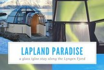 Lapland | Best Vacation Ideas in Lapland / Fun places to visit and things to do in Lapland: thing stop do in Finland, Norway, Sweden. Glass igloo tour, Northern Lights in glass igloo
