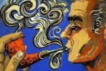 Pipe Smoking / Pipe collecting, famous pipe smokers vintage ads etc.  / by John Scatamacchia