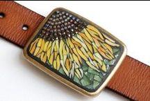 Mis mosaicos / My mosaics / Estos están hechos por mi. These are made for me. / by milenrama