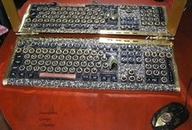 My handmade products steampunk keyboard and mouse