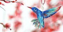 FAUNA // Kolibris: Hummingbirds / Zeichnungen, Stickereien, Fotos von Kolibris : Drawings, embroidery, photos of hummingbirds