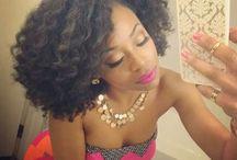 Ebony hairstyles / Braids & natural hair