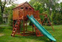 Wooden Swing Sets and Outdoor Playsets / Our playsets and swing sets foster imaginative outdoor play to children of all ages; stimulating their minds and bodies.