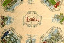 Vintage fancy london scarves