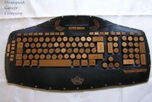 Robur's dashboard / skin-steel steampunk keyboard