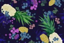MAY   Fruit / Pattern designs and developmental work based on a Fruit theme.