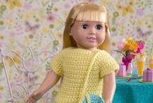 Horgolt játékbaba ruha