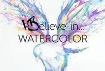 W A T E R C O L O R / De l'eau et de fins pigments pour des œuvres délicates #watercolor