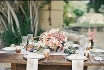 Romantic Provencal Wedding Inspiration / Set in the inspiring grounds of Chateau Belfonds, with it's magnificent entrance archway, thought-provoking orchard and the stunning and contrasting background of olive farms and mountain peaks, this shoot oozes Provence.  This shoot has appeared on the iconic wedding blog Style Me Pretty on December 18th 2014.