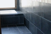 Chinese Black Slate, Honed - Bellstone / This is a seriously dense stone that is suitable for almost every application including wet areas such as water features. It is a slate with a nicely textured surface. The slate is suitable for both indoor and outdoor use and has been used on walls just as successfully as it has been for flooring. It is available in both honed and natural split form. The black, honed treads are really beautiful and are enormously popular for outdoor stairways.