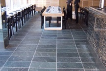Arctic Green Slate - Bellstone / This popular slate is of exceptional quality with varying shades of ocean green colours.  It is a dense stone suitable for all external & internal applications.  Surface sealing is suggested for internal and external food areas but may be left natural for all other applications.  It is natural split both sides allowing for a choice of surface depending on which side has the preferred texture and colour