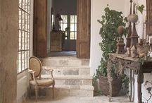Stone entry & hall areas