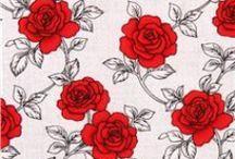 Rosenstoffe / fabric with roses / Nur Rosenstoffe in aller Art u. Qualität, die mir gefallen
