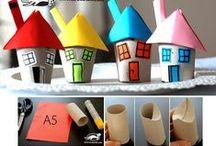 Manualidades para niños // Crafts for kids / Manualidades fáciles para hacer con los peques de la casa.