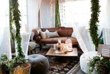 Uni room / Everything bohemian and industrial inspired all tied in with nature. One day ill live like this