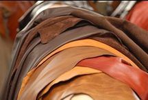LEATHER: hides / We stock over 40 colours, grains and patterns of leather hide.