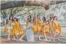 Wedding party photo inspiration / Inspiration for photos with the wedding party.