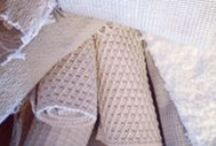 BATHMATS: cotton / Bathmats: 100% cotton.  Easily washed and highly absorbent.