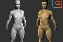women digital 3d sculpture