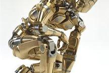Robots And hard surface / Robots and hard surfaces, digital 3d sculputure And concepts