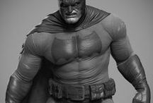 Super hero and Co. / Digital 3D sculpting and digital 2d art, about: movies, tv séries, animations, comics, games....