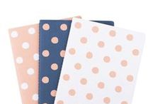 Here & Now /  Welcome the beauty of minimalist and timeless Swedish design into your workspace with our new Here & Now Collection. A complete collection of notebooks, planner pads, pens and everyday essentials, Here & Now exudes the Swedish design principles of form and function. Combining three simple hand-illustrated design elements – dots, stripes and triangles – and three neutral colours – navy, peach and white – the collection will bring a sense of calmness and control to your workspace or home. / by kikki.K