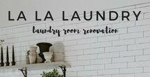 La La Laundry / The chic laundry room makeover built to last   in the hutch ❊