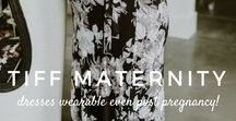 Tiff.Marie Maternity / Beautiful dresses that you can wear throughout your entire pregnancy AND after pregnancy (+ discount)   in the hutch ➵