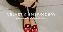 Velvet + Embroidery / Embroidered velvet mules to jazz up any wardrobe!   in the hutch ✰