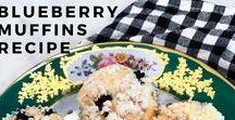 Blueberry Muffins / A delicious recipe for the blueberry muffins everyone loves!   in the hutch
